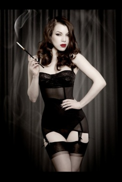 Kiss Me Deadly - Black Vargas Dress