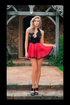 Sally Jones- Poppy Babydoll and Poppy Brief Set