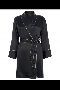 JULIANNE London - Jeanne - Black Silk Robe