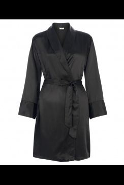 JULIANNE London - Coco - Black Silk Robe