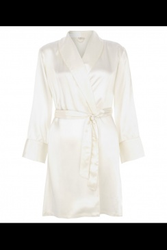 JULIANNE London - Coco - Cream Silk Robe