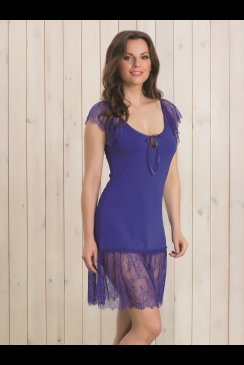 Vanilla Nightwear - Blue Nightdress