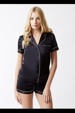 Julianne London - Isabella - Black Silk PJs