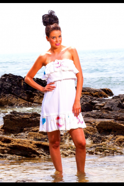 Mya Blue Beach - ATHENI - White Beach Dress
