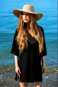 Mya Blue Beach - San Antonio - Black Kaftan