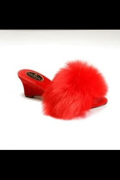 fOOfOO - Red Sheepskin Mule Slipper