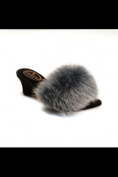 fOOfOO - Mulberry with Platinum - Sheepskin Mule Slipper