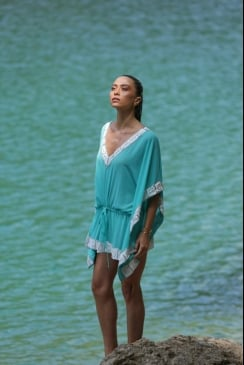 Forever Unique - Damson - Embellished Beach Kaftan