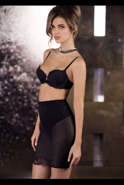 Wacoal - Vision Black - Control Half Slip, With Built in Thong