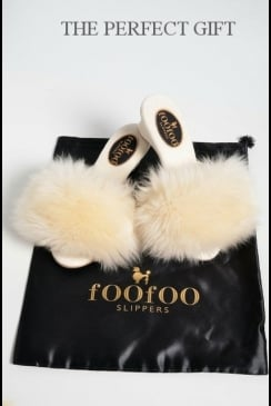 fOOfOO - Ivory Sheepskin Mule Slipper