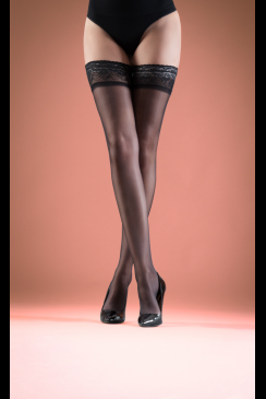 Bluebella - Black Lace Top Hold Ups
