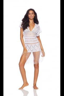 Beach Bunny Swimwear - Desert Dreamer  White Tunic Beach Dress