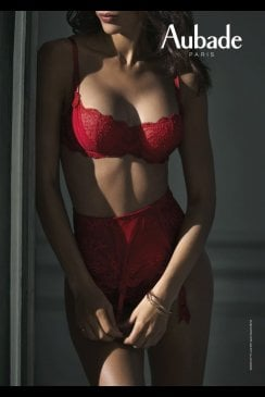 AUBADE À L'AMOUR - Half Cup Bra - Rouge Darling