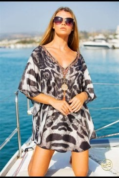 Lindsey Brown Luxe - Cuba - Animal Print Kaftan Top