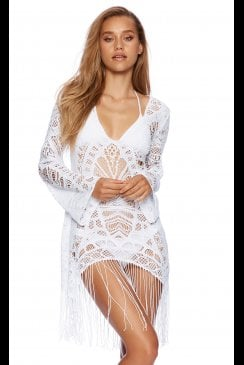 Beach Bunny Swimwear - Sienna - White Tunic Beach Dress