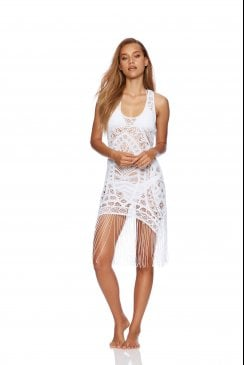 Beach Bunny Swimwear - Sienna - White Tank Beach Dress