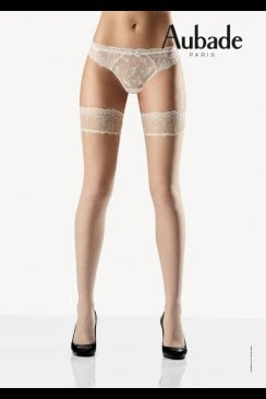 Aubade - Belle d'Ispahan Pearl - Hold Up Stockings
