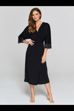 Vanilla Nightwear - Black Robe - 901R