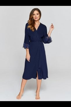 Vanilla Nightwear - Navy Robe - 901R