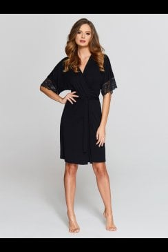 Vanilla Nightwear - Black Robe - 903R