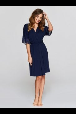 Vanilla Nightwear - Navy Robe - 903R