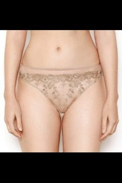 Katherine Hamilton - Abrielle Gold - Embroidered Thong