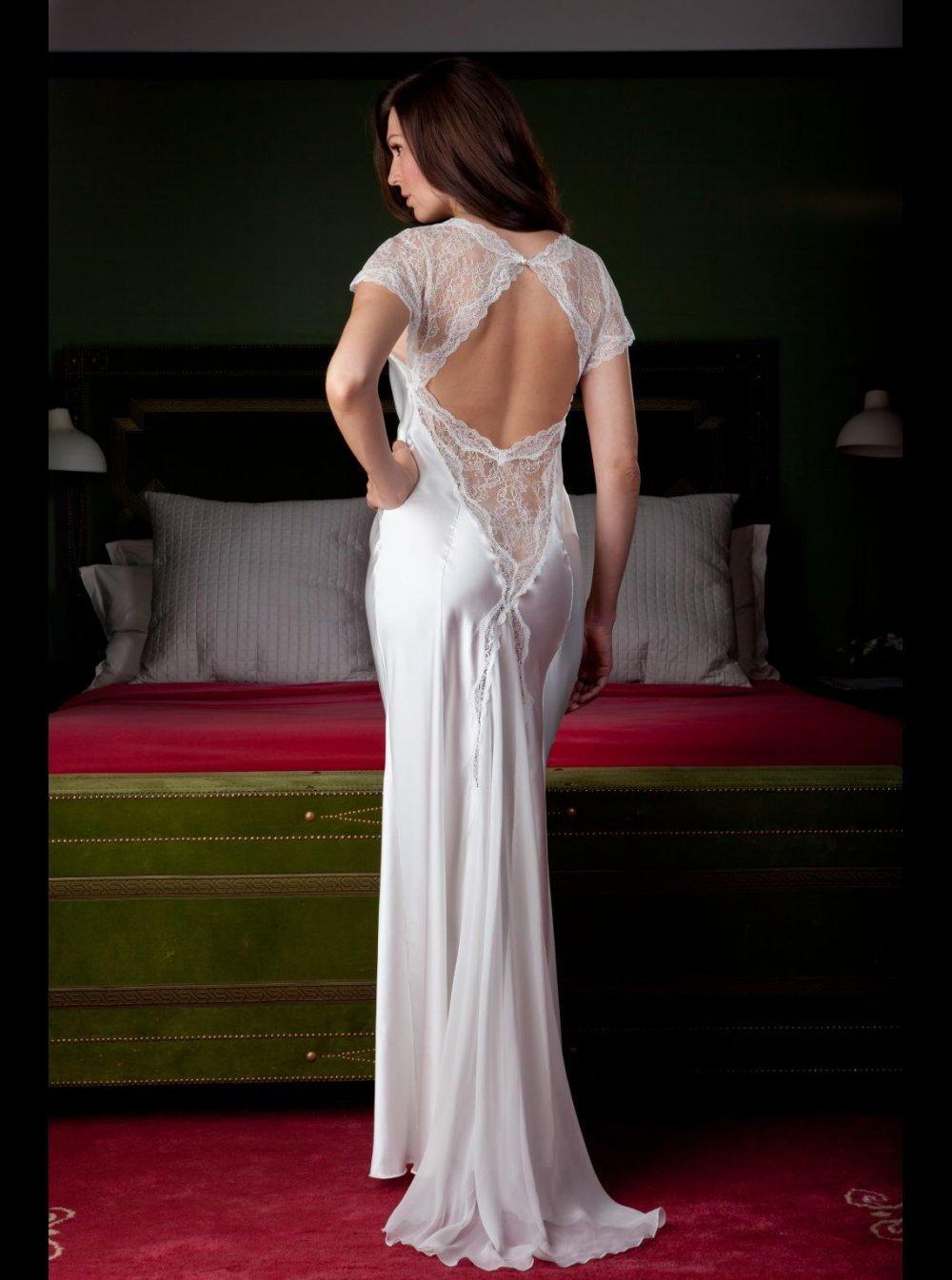 Jane Woolrich Silk Nightdress 8274 Honeys Lingerie