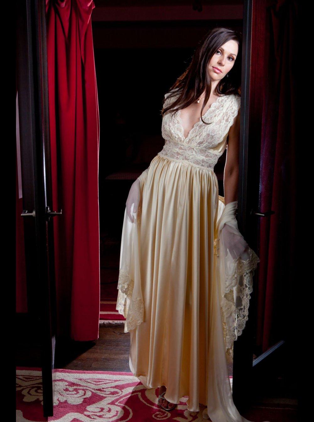 d490e8eab8 Jane Woolrich | Silk Nightdress - 9577 - Honeys Lingerie Boutique