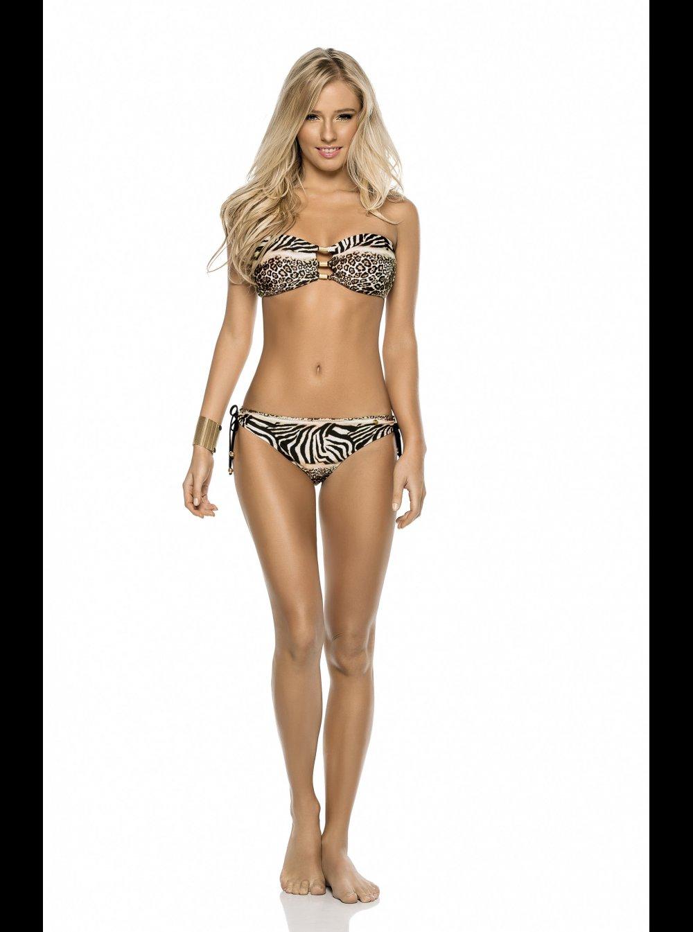 22d2b682452d PHAX Swimwear PHAX - Areia - Animal Print - Bandeau Bikini